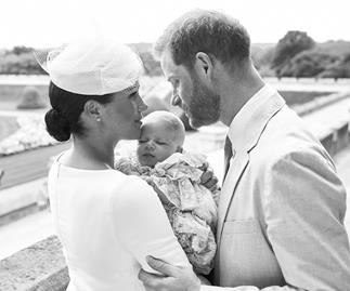 meghan markle archie prince harry christening photo
