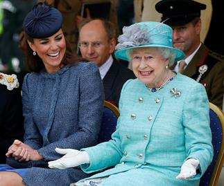 queen elizabeth kate middleton laughing