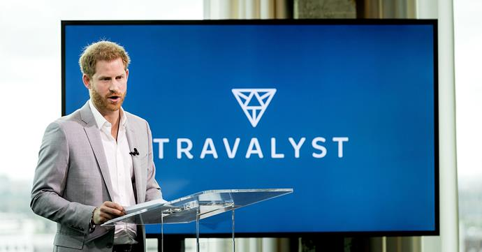 Prince Harry flew to Amsterdam on Tuesday to launch Travalyst - an initiative looking to transform the travel industry for the better. *(Image: Getty)*