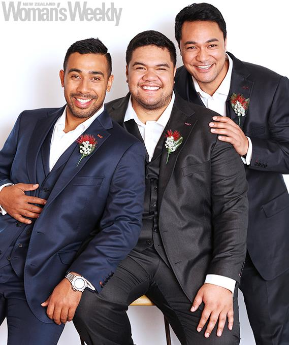 Moses says Sol3 Mio's Pene (middle) and Amitai encouraged him to give the show a go.