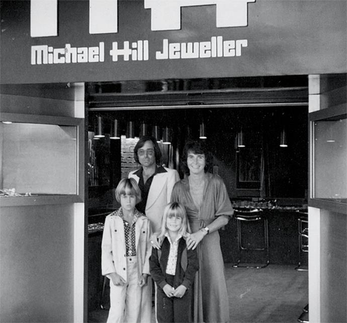 Open for business! The first-ever Michael Hill store in Whangarei, 1979.