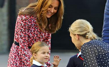 Duchess Catherine had some sweet words of reassurance for Princess Charlotte on her first day of school