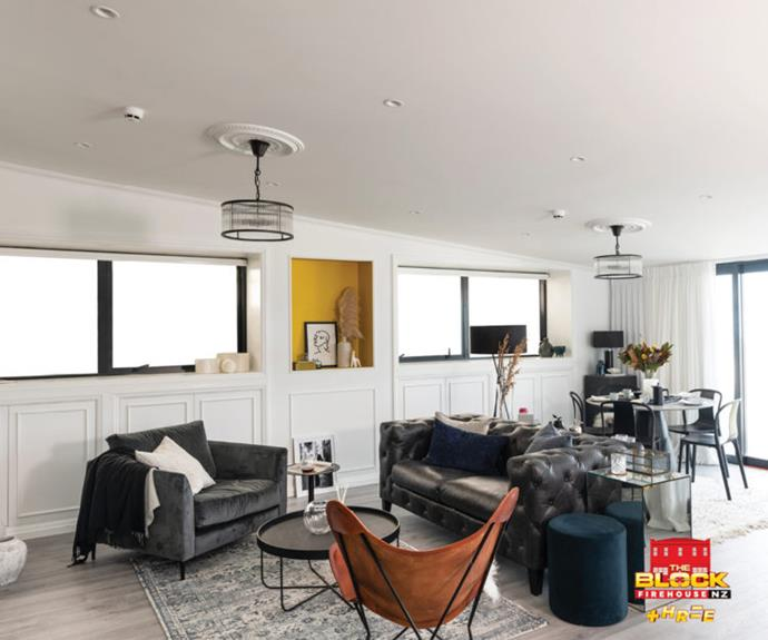 Sophia and Mikaere's living room was voted best room on The Block NZ 2019, but their apartment failed to attract a buyer come auction night