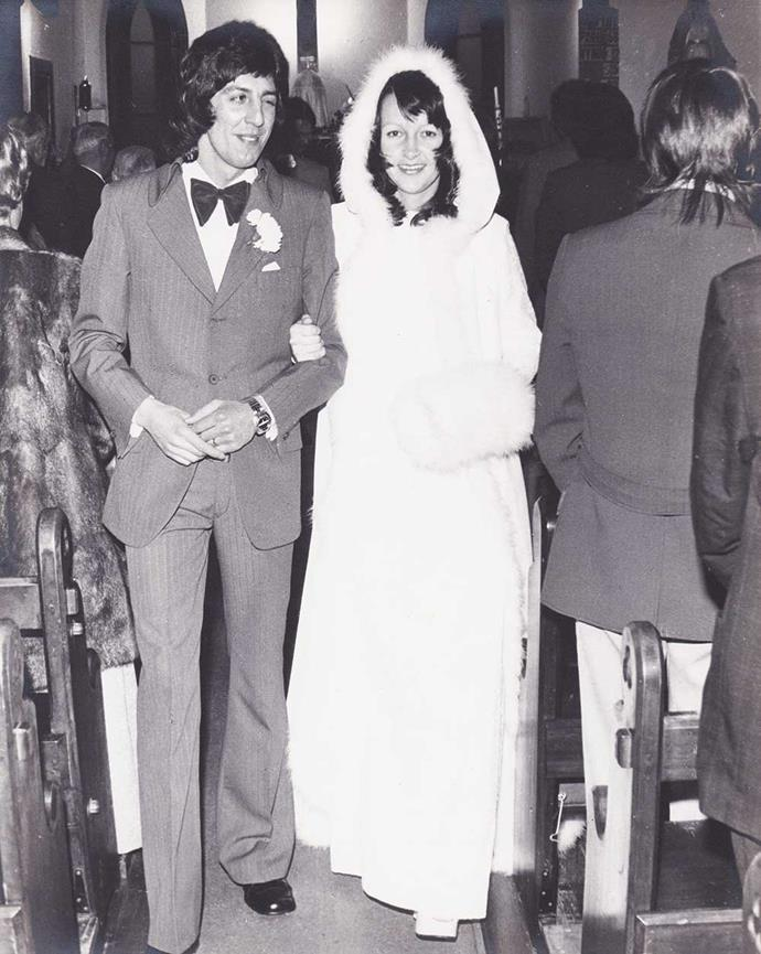 Paddy's parents Gordon and Joan on their wedding day in the '70s.