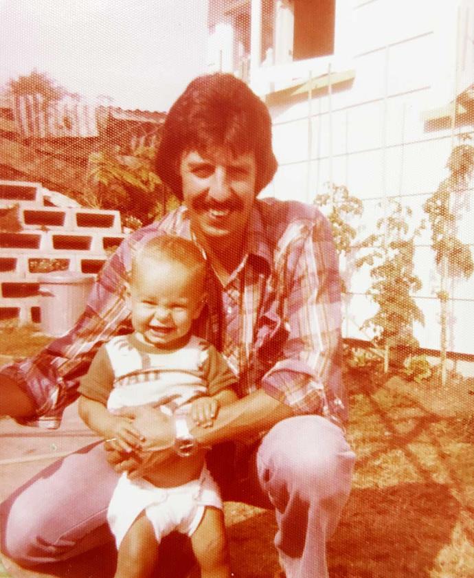 Gordon with his little newshound, aged one.