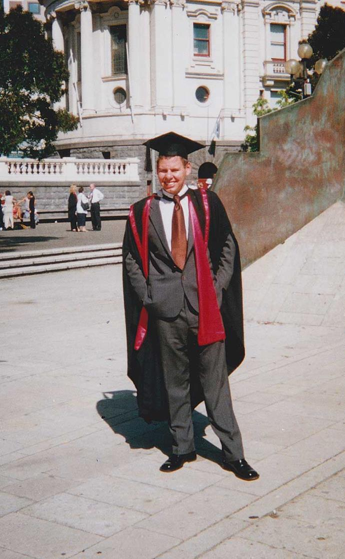 Graduating from Victoria University aged 22.