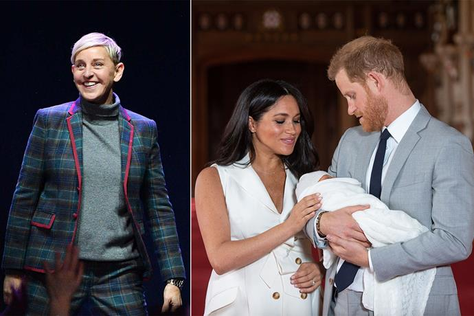 Ellen has revealed Archie looks just like his Dad! *(Images: Getty)*