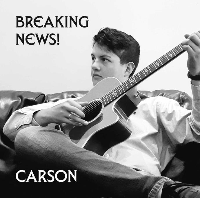 Carson's debut album *Breaking News!*