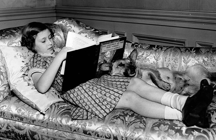 Princess Margaret reading in 1940. *Image: Getty*