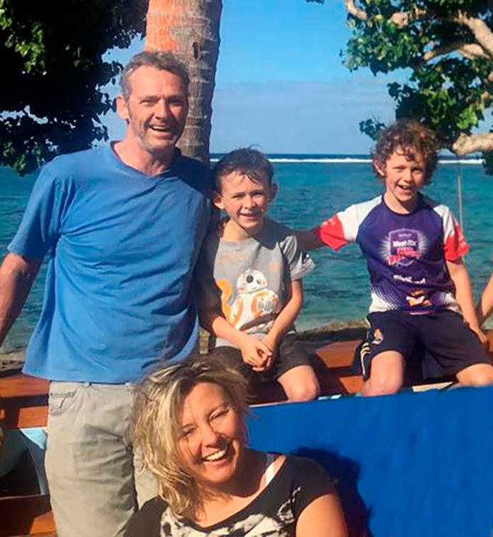 Relaxing in Fiji after filming with Tim, Theo and Xavier.