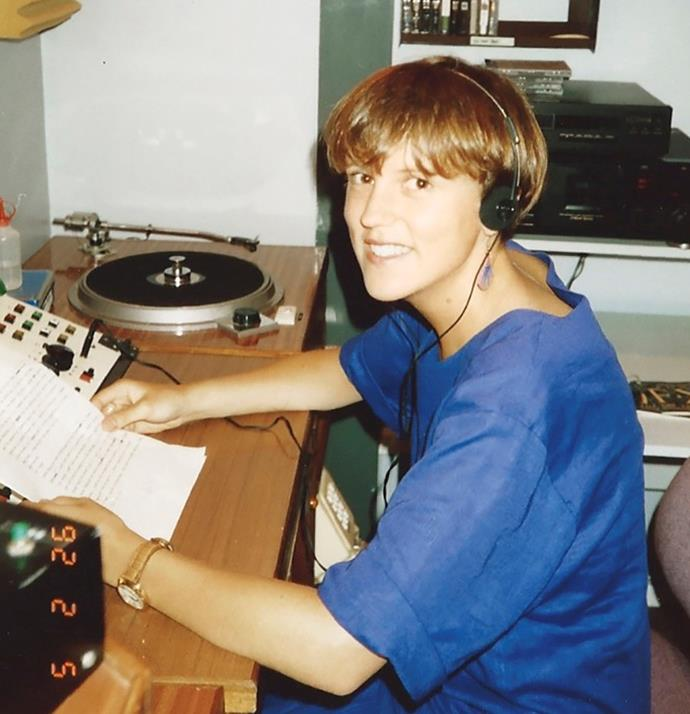 Hilary as a young radio journalist.