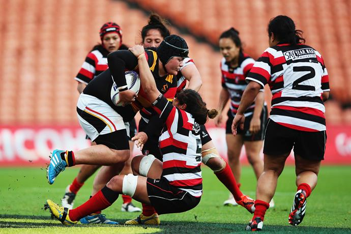 Rochelle playing for Waikato. *Photo: Getty*