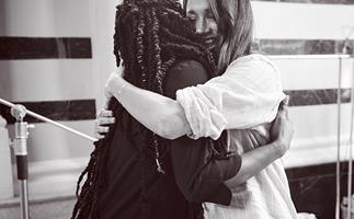 meghan markle clothing collection photoshoot hug
