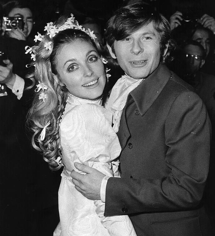 Sharon Tate and Roman Polanski at their celebrity-packed wedding in 1968.