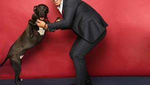Celebrities and their pets: Moses Mackay and his 'surprise' Great Dane Merch