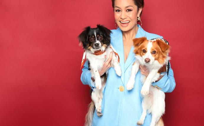 Teuila Blakely pet dogs Missy and Melo