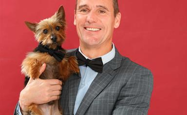 Celebrities and their pets: Dominic Harvey and Sydney silkie Kanye