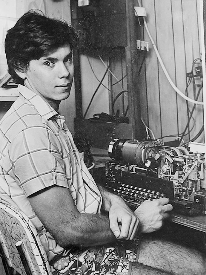 Along with his many academic achievements, Ivan is also a HAM radio enthusiast (below in 1974).