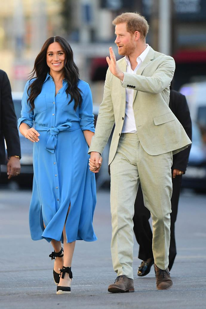 The royal couple had a quick outfit change ahead of their second engagement for the day. *(Image: Getty)*