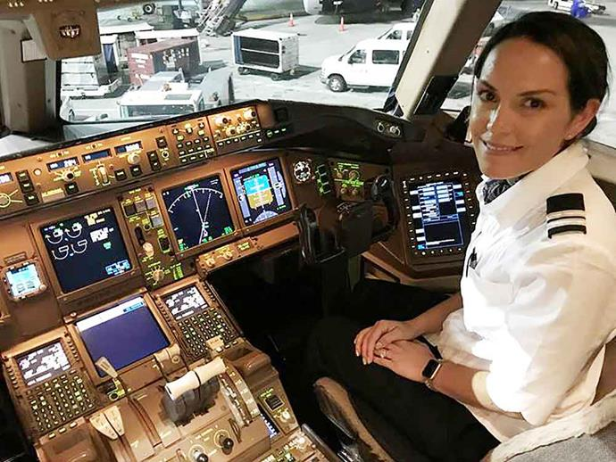 Ready for take off! Air New Zealand pilot Alison has bigger commutes than most young mums.