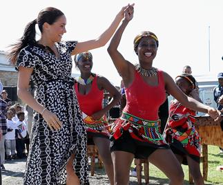 meghan markle dancing south africa
