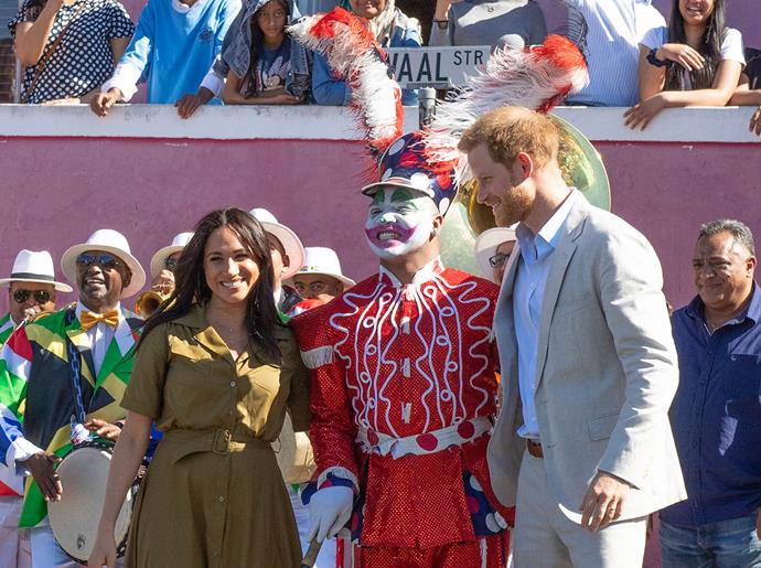Meghan and Harry enjoyed the festivities of the Heritage Day celebrations. *(Image: Getty)*