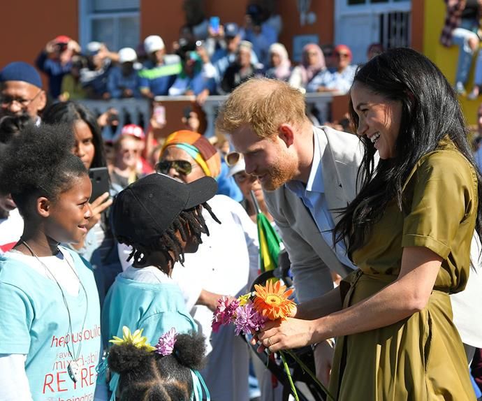 meghan markle and prince harry in bo kaap south africa