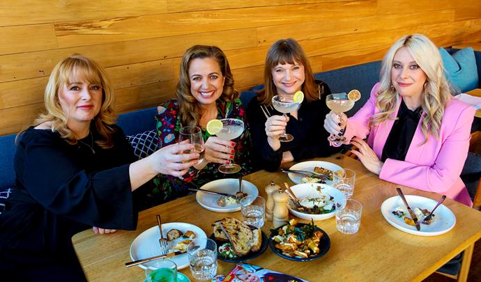 A meal, a margarita and what memories! The magazine leaders (from left) Michele, Sido, Megan and Sarah share an amazing bond.