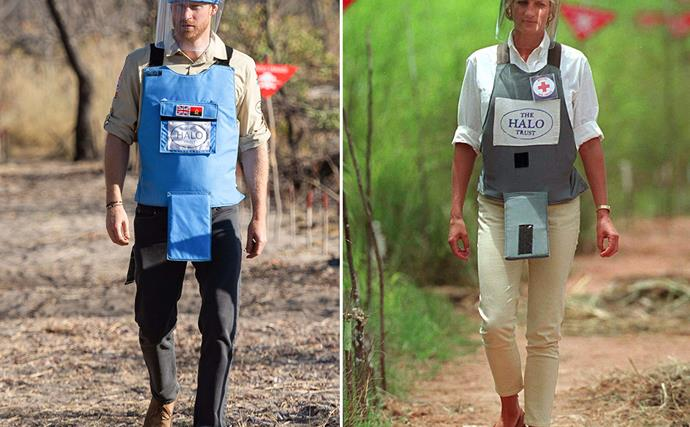prince harry princess diana landmines angola