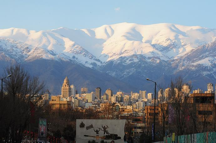 Tehran is located beneath the majestic Alborz mountains.