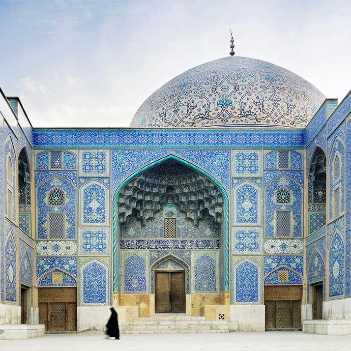 Blue is the traditional colour palette for Iran's opulent mosques.