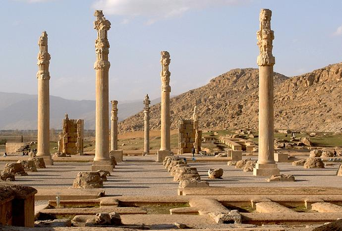 The ruins of Persepolis, which are now a UNESCO World Heritage site.