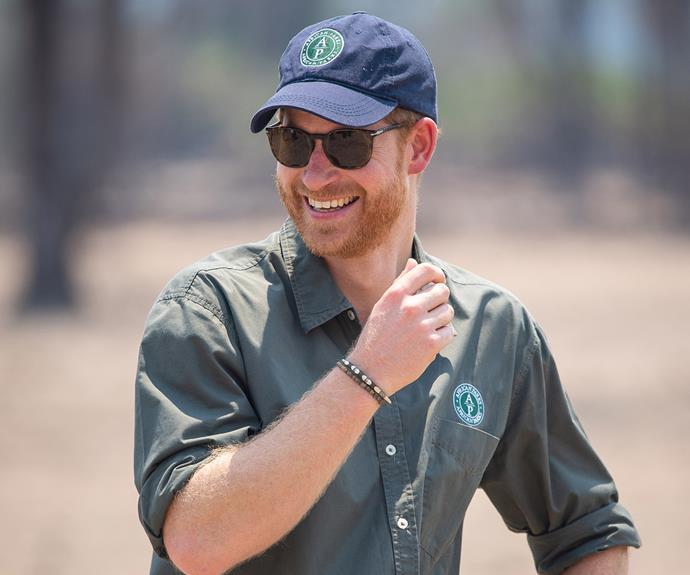 prince harry smiling malawi