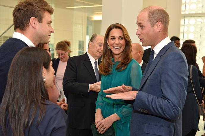 Kate and William with Masterchef UK winner Saliha Mahmood Ahmed. *(Image: Getty)*
