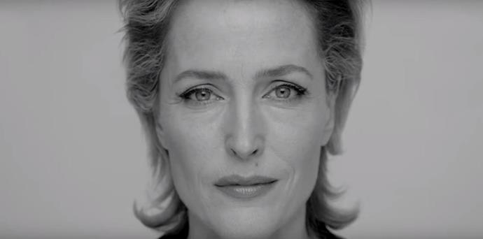 British actress Gillian Anderson also stars in the mental health PSA, which the royals helped to narrate.