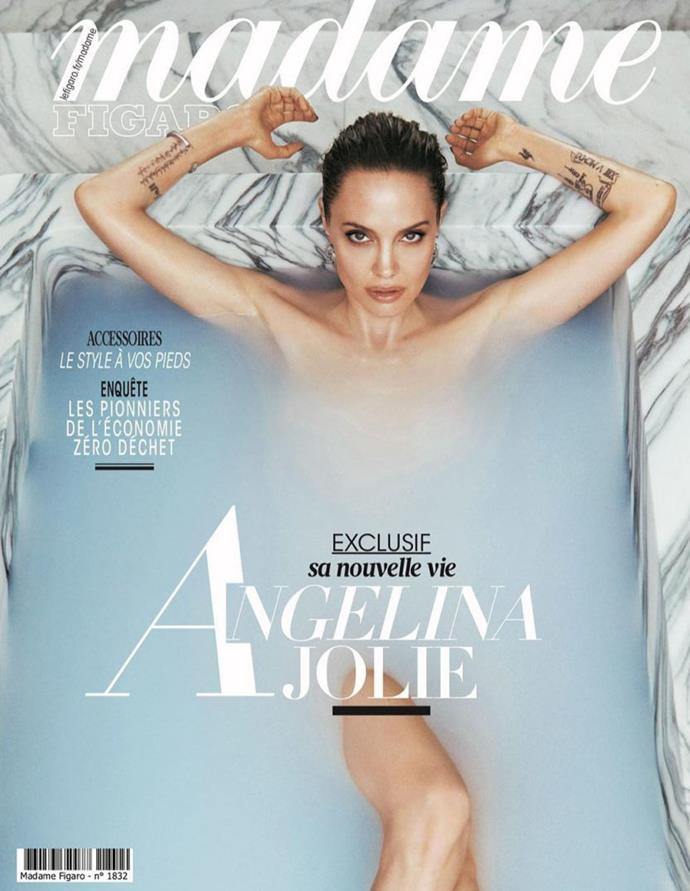 Angelina was Madame Figaro's cover story.