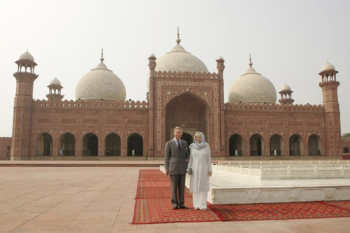 Prince Charles and Duchess Camilla during their visit to Lahore, Pakistan in 2006, this tour will be William and Kate's first to the country. *(Image: Getty)*