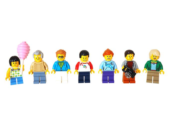 Little children love personalised gifts such as this family of Lego characters