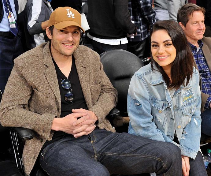The couple at a Lakers game in LA earlier this year.