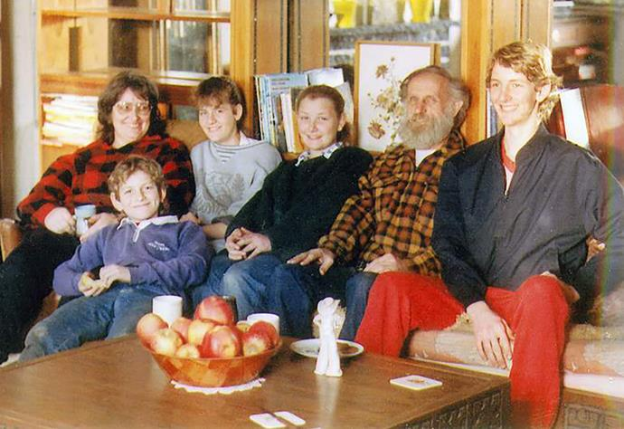 In this family snap, smiles hide tensions. From Left: Margaret, Stephen, Arawa, Laniet, Robin, and David.