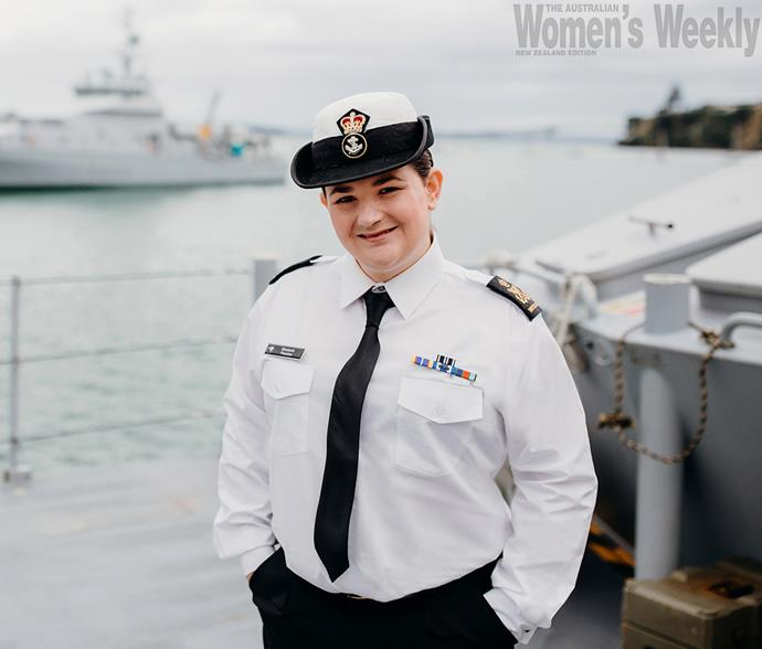 34-year-old Elizabeth is the first person to transition within the Royal New Zealand Navy.