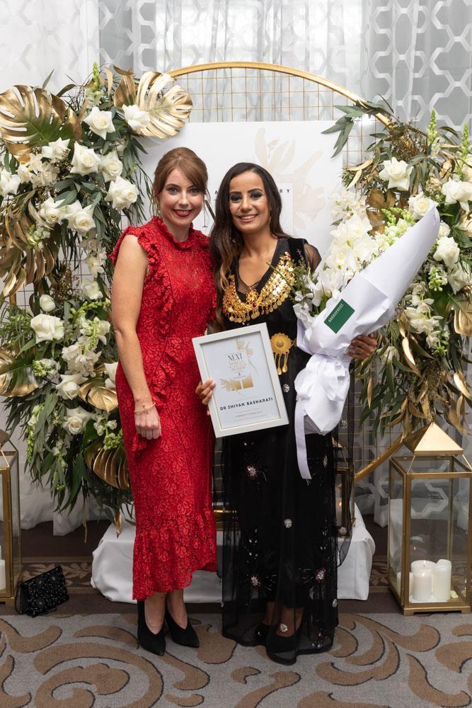 NEXT editor Nicola Dewe with community winner Zhiyan Basharati