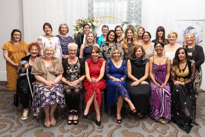 The 2019 Woman Of The Year Finalists with NEXT editor Nicky Dewe (centre, in red) and Revlon and Elizabeth Arden GM Valerie Riley (front, third from right)