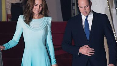 Duchess Catherine and Prince William receive a royal welcome as they arrive in Pakistan