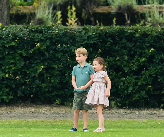 Prince George, Princess Charlotte and Prince Louis are back home in England, where they are being looked after by their grandparents Carole and Michael Middleton, and their nanny Maria Borrallo. *(Image: Getty)*