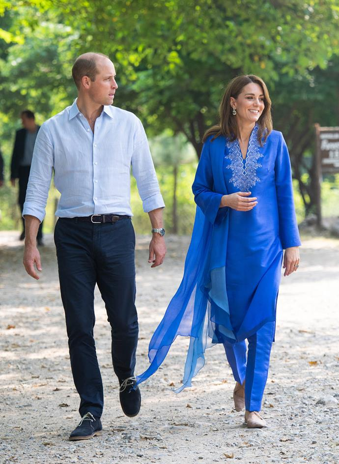 Prince William and Duchess Catherine completed their first full day of royal tour engagements on Tuesday. *(Image: Getty)*