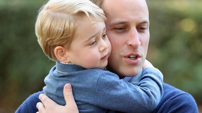prince george hugging prince william