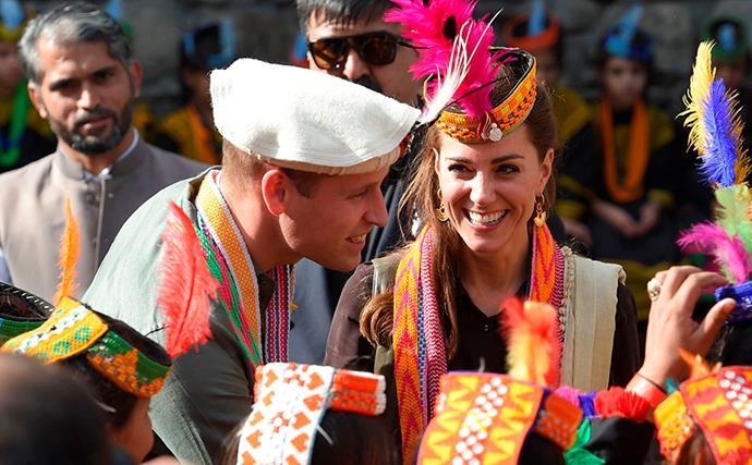 kate middleton smiling prince william pakistan village