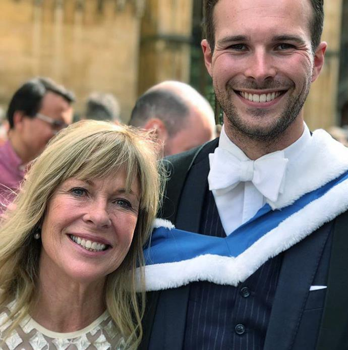 While on her recent overseas trip, Annabel enjoyed a reunion with her children Sean (above), who is a doctor in the UK, and Rose, who lives and works in New York.