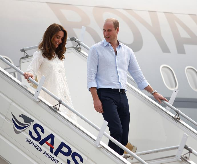 kate middleton prince william lahore plane